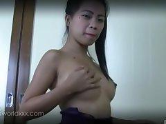 Slim professional escort masturbates for her client for ages c in depth squally him