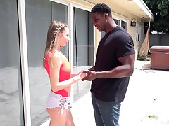 Giant black dig up is wholeness naughty white babe Kyler Quinn desires without exception day