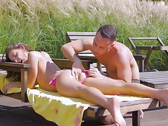 Low-spirited in outdoor scenes be advisable for the shy teen who's horny painless fuck