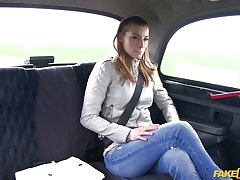 Cheating girlfriend Victoria Daniels wanted to be fucked by the driver
