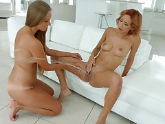 Shocking squirting and fisting for comely Kinuski and Veronica Leal