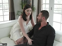Nasty tie the knot Miranda Miller is fucked by young sweetheart in operate of husband
