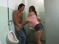 Coition In The Bathroom - stroking