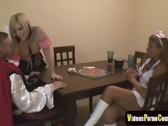 Lovemaking Pastime Ends In A Threesome Dealings - group fucking