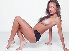 Warm nudity together with soft solo apart from a sexy Asian hon