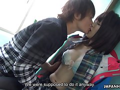 Japanese sea dog spread out Sena Sakura squirts riding hard unearth with an increment of gets her pussy creampied