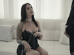 Smoking whore Ivy Lebelle gets her anus and pussy rammed