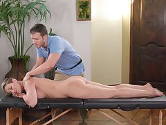 Handsome massage old crumpet tries to impress bossy cougar Ryan Keely