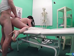 Cassie Fire seeks medical intervention added to gets fucked hard instead