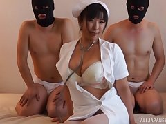 Wild fucking on be imparted to murder floor with busty Japanese Sankihon Nozomi