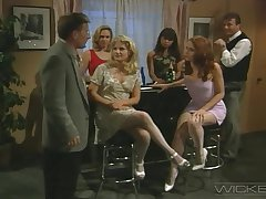 Amazing retro FFM threesome less Chloe and Toni James. HD video