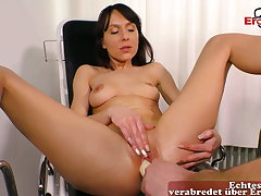 German masturbation with toilet brush and in fine fettle gynecologist