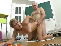 Old Teacher fucks student Kira