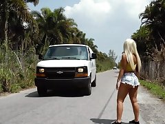 Picked up Latina MILF receives much more than a ride home