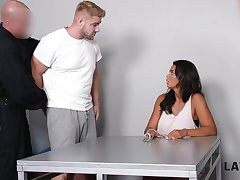 Brutal guy fucks super juggy neonate Chloe Lamour around front of her cuckold boyfriend