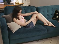 Elegant teen Deepika is finger screwing sopping luscious slit