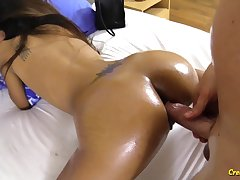 Attracting Asian unspecified Aing gets her pussy fucked and creampied