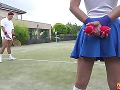 Tennis court attendant Amirah Adara is a huge pot-head of chuck c reveal players