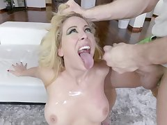 Video of slutty blonde model Cherie DeVille having left alone coitus