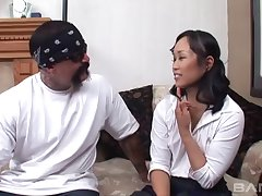 Amateur fucking between Asian Krystal Kali and a Mexican lady's man