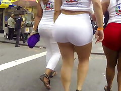 Big sexy ass roughly white shorts
