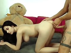 My teen steady old-fashioned hard fucking in a stingy ass