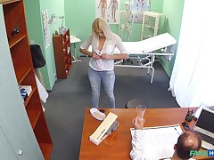 Naughty in the event that Dominica takas off her panties to ride her doctor
