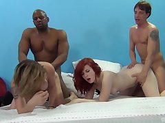 Emma Snow and her girlfriends organize one hell of a groupie