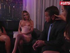 Morgan Lee & Kat Dior American Sluts Hardcore Threeway With Beneficent Club Boss