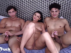 Channing Surrounding The Big Dick Pounds French Model Joe and PAWG!