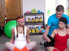 Jade Presley wraps on touching a gymnastics with a babe and their bus