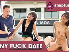 Close-mouthed Candy enjoys a spontaneous fuck date! Snap-fuck.com
