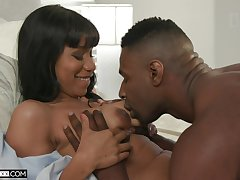 Fine ebony with saggy tits, nude porn on a black hammer