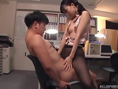 Hardcore fucking approximately an obstacle office with cock hungry Japanese Kurokawa Sumire