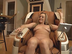 Mature wife toys pussy after posing nude and slutty AF