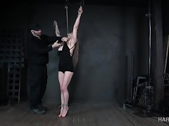 The bondage holds that fit athletic babe in place and she's be prepared some fun