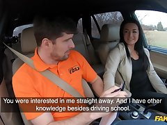 Amateur czech student driver doll banged in excess of backseat