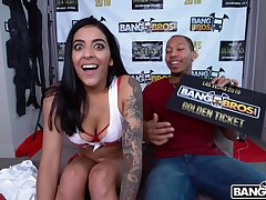 Hardcore pussy and ass drilling with a outrageous dick for Julianna Vega