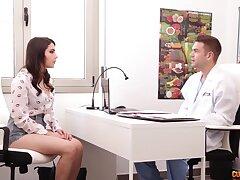 Handsome plastic surgeon fucks interesting patient Valentina Nappi after breast examination