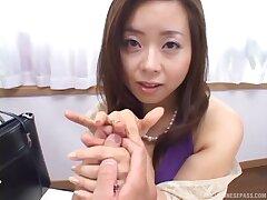 POV video of hot ass Japanese babe Kana Mochizuki object fucked