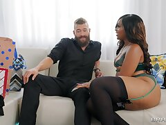 Smoking hot Gorgeous Aphro doesn't need above his big dick