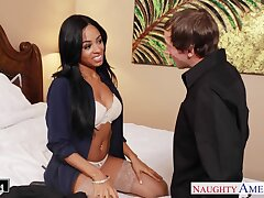 Busty naughty babe Anya Ivy desires connected with enjoy some sensual missionary