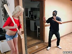 Black housebreaker with a liberal dick fucks horny blondie Elsa Jean