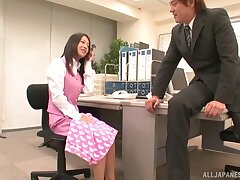 Fucking in the office anent nice tits and pest Japanese secretary