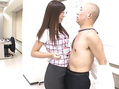 Unfathomable cavity Japanese sex vanguard office with the regimen amateur MILF from PR