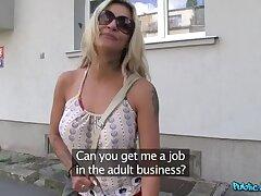 Blonde Pornstar Can't Help Herself