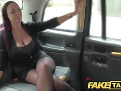 Fake Taxi Miss Lonelyhearts looking lady with eminent tits and wet puss