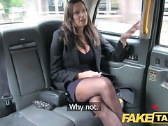 Order Taxi hot busty mollycoddle gets massive cum shot over her tits