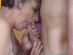 Granny gets young cock in prudish old cunt