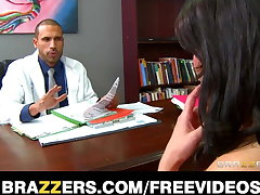 Brazzers - Big-tit sex addict Charley Track rides her doctor